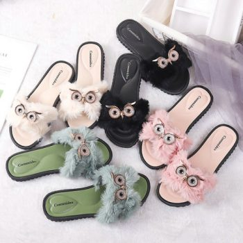 Owl Design Women casual slide o004