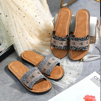 Cloth Strap Casual Sandals for Women o012