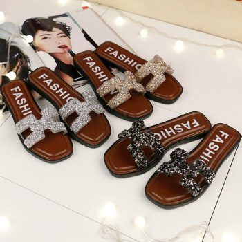 New Rhinestone Studded Women's Slides o001