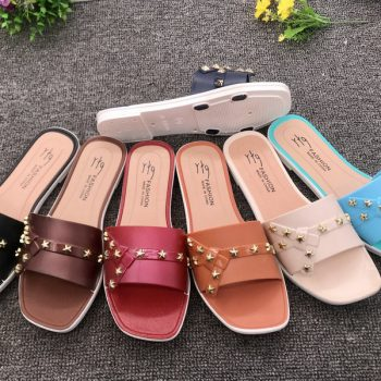 Star Design Women's Casual Summer Slide J015