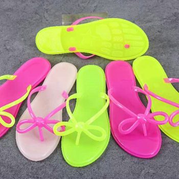 Cute Bow Women's Jelly Shoes z011