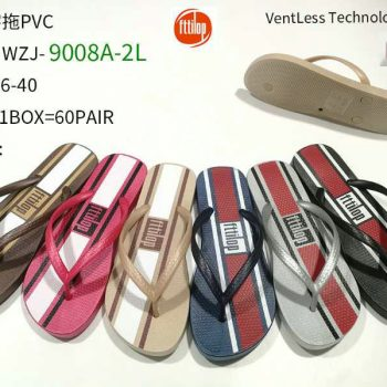 Striped Women PVC Flip Flops s010