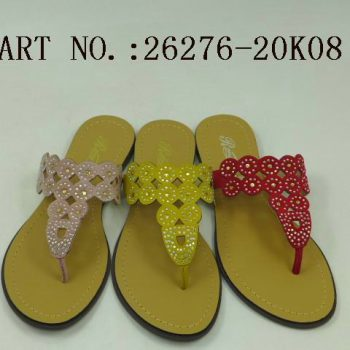 Traditional Rhinestone Studded Flip Flops for Women m010