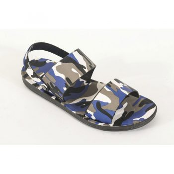 Camouflage Leather Sandals for Men n011