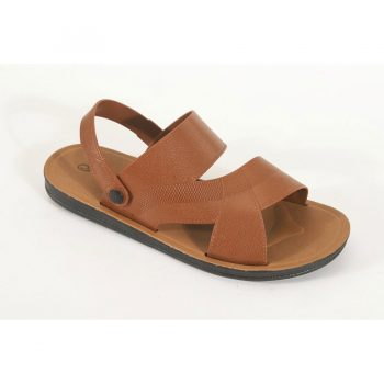 Men's Leather Sandals Brown n017