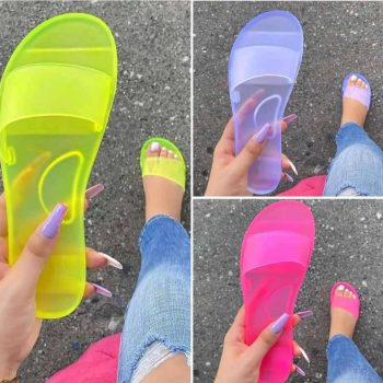 Jelly Sandals Candy Sandals Lady Outdoor Jelly Slippers KTP10016