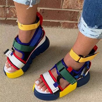 Colorful casual Platform Shoes High Heel Roman Sandals NEO01048