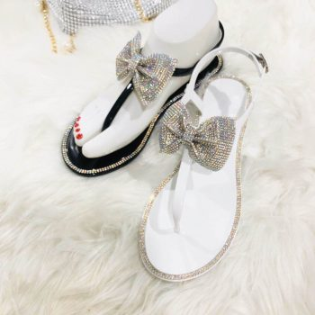 Rhinstones Jelly Sandals for Women Lady Bowknot KTP15004