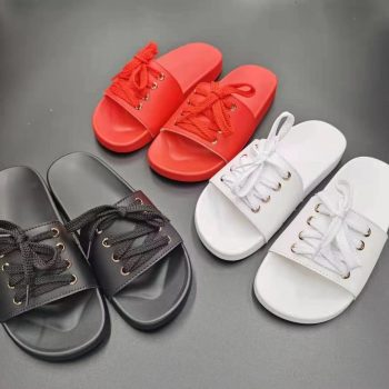 Wholesale women slippers with laces design casual slides NEOS1222