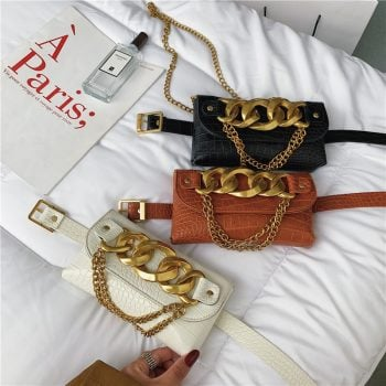 With chain simple design ladies casual bags purses AL1028